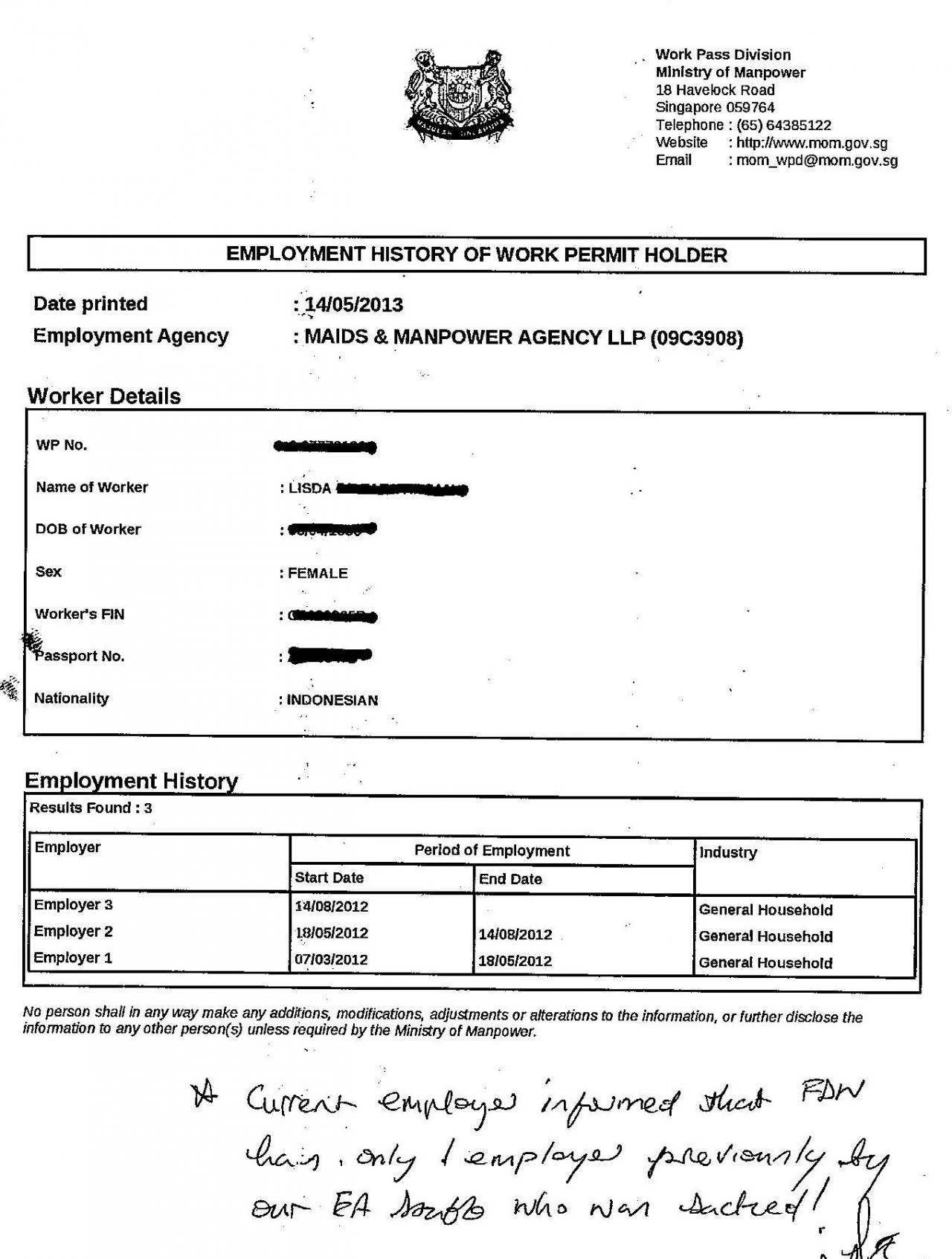housekeeper contract templates