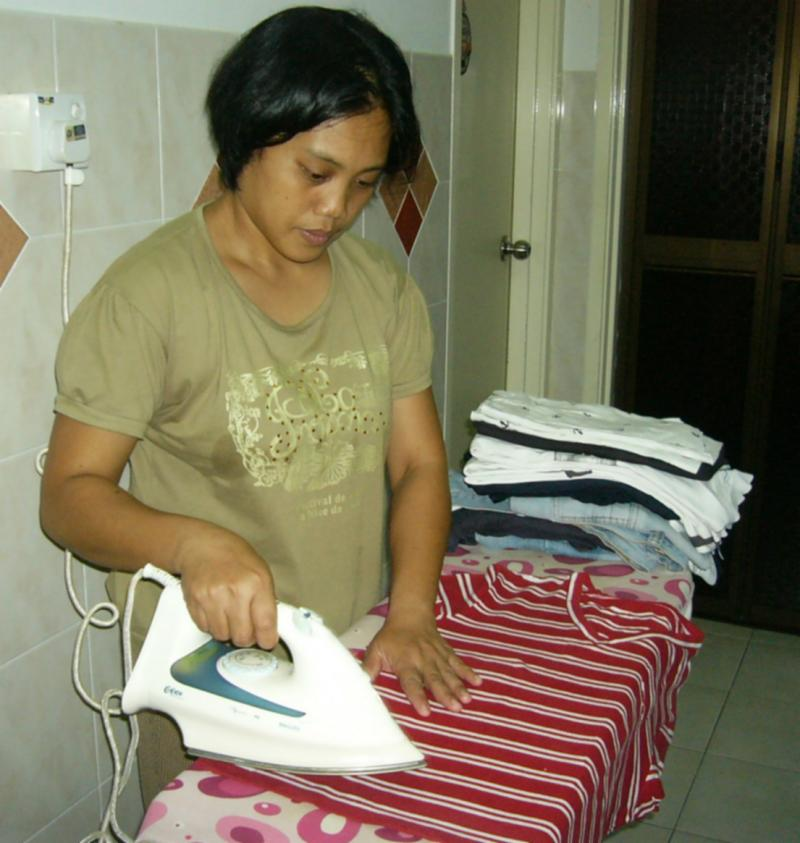 Domestic Helper has a good heart, initiative & follows her own work schedule